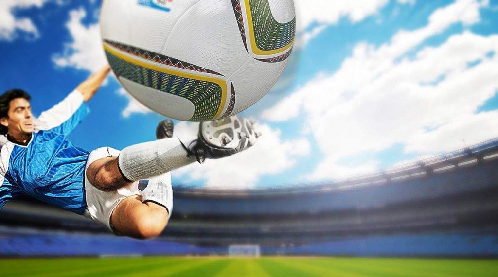 football player shooting ball
